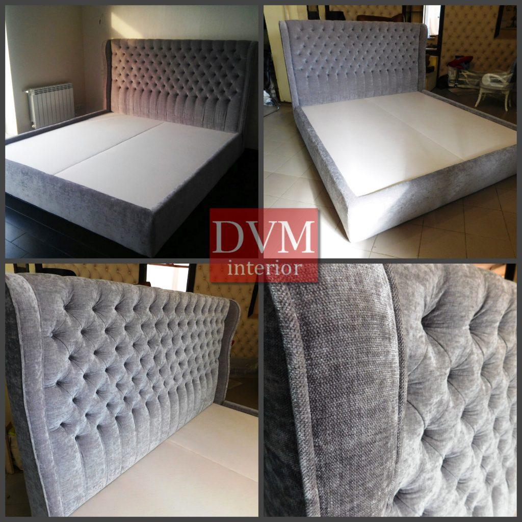 Krovat s izgolovem v pikovke 1024x1024 - Изготовление кроватей на заказ